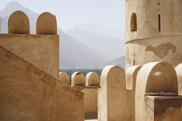 Nakhal Fortress in Wesetern Hajar Mountains